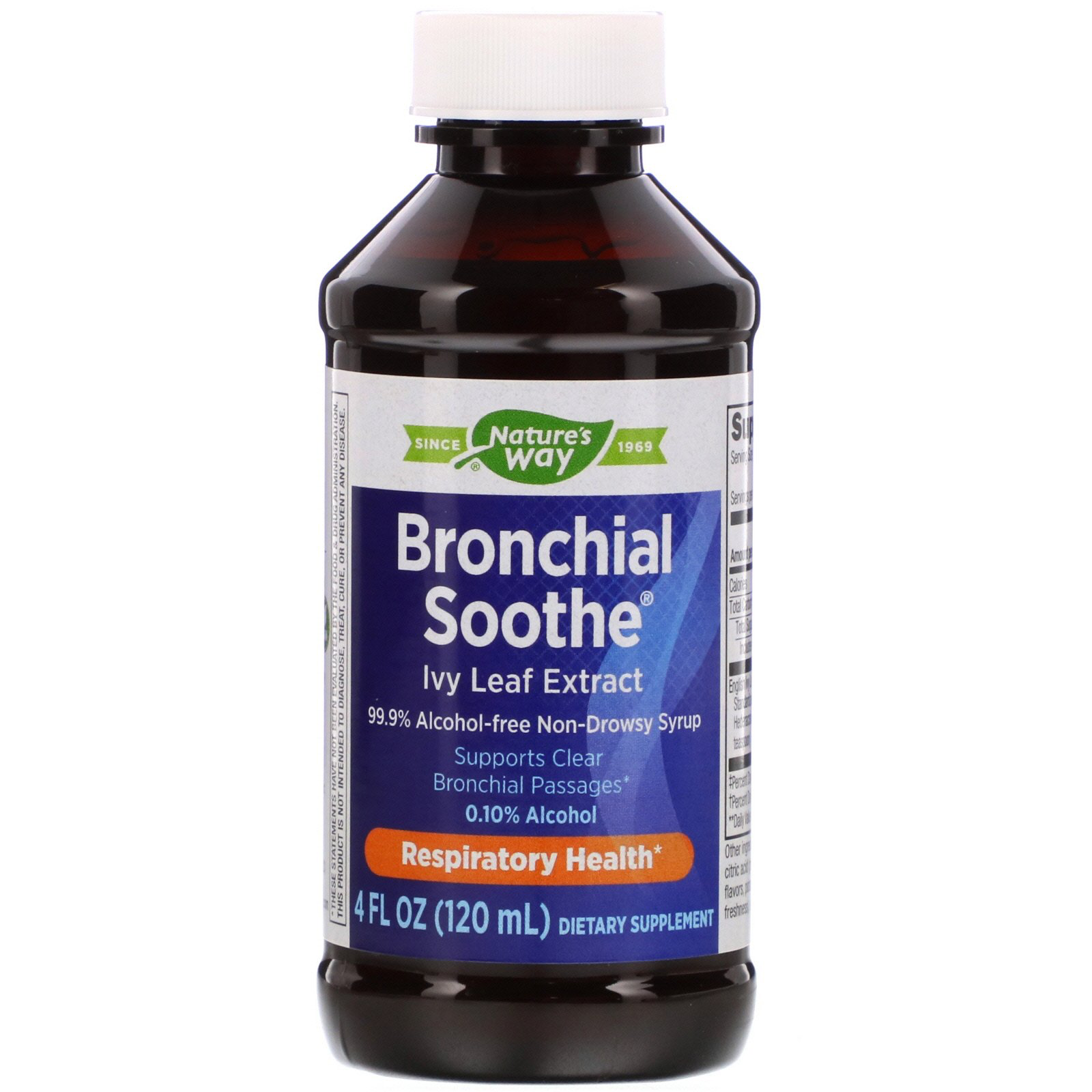 Bronchial Soothe Ivy Leaf 99.9% Alcohol-Free Non-Drowsy Syrup (Nature's Way)